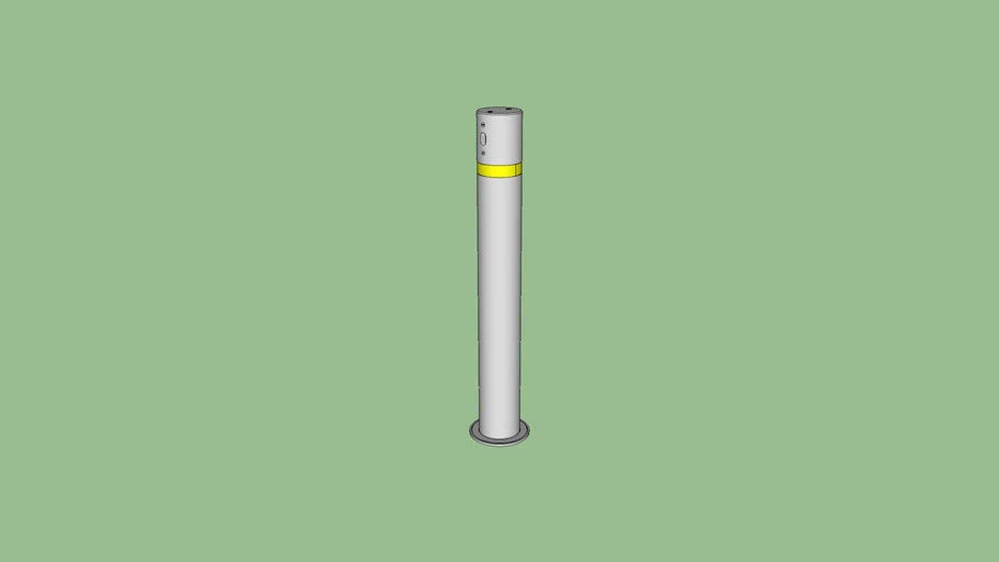 R-9464 stainless steel removable bollard