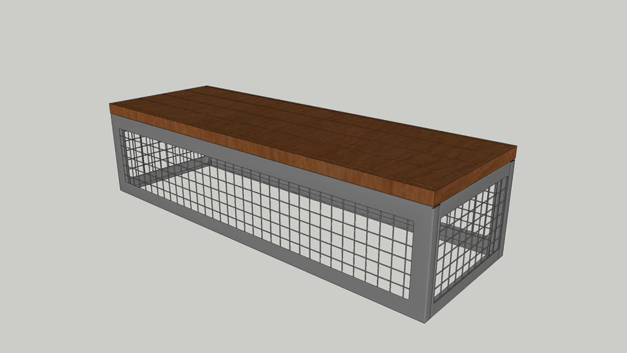 Canyon Thermory/Recycled Plastic Gabion-Style 6' Bench