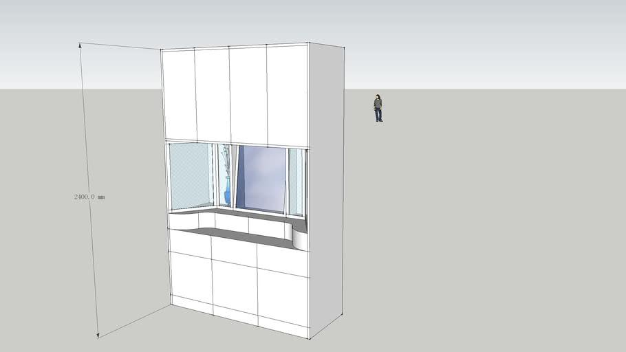 吉首大学10环艺2家具设计作业,整体梳妆台