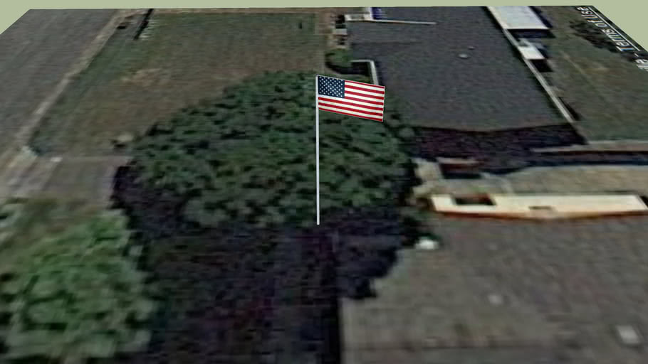 20 foot flag pole and American Flag