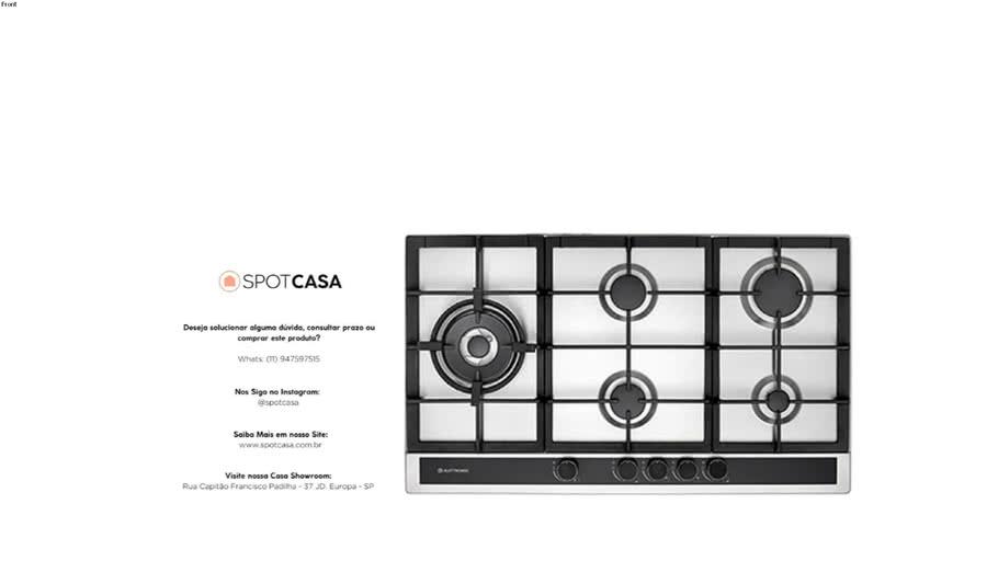 Cooktop Sole 90 cm Bivolt Elettromec