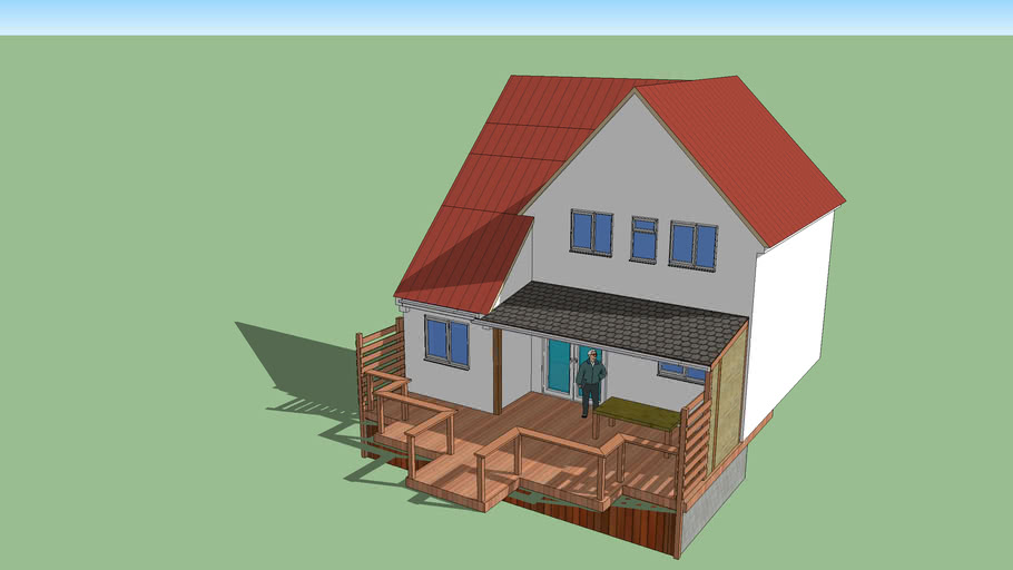 decking with short felt roof 2