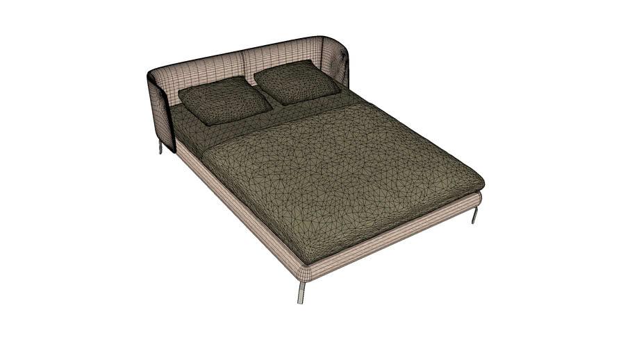 Ligne Roset Desdemone Low Headboard Queen Bed
