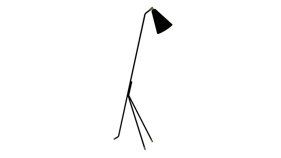 lampadaire pieds noirs