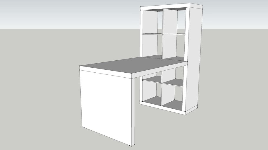 IKEA EXPEDIT Desk combination white