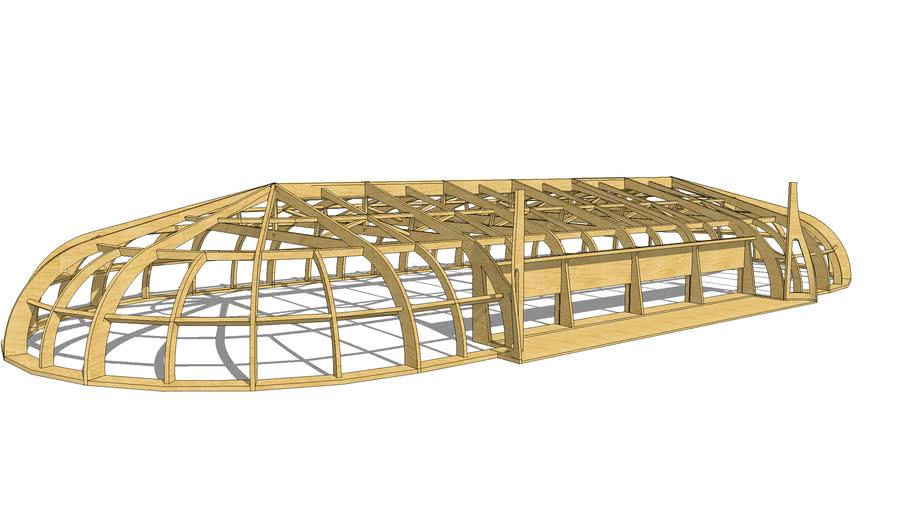 Stucture de bois pour salle de sport