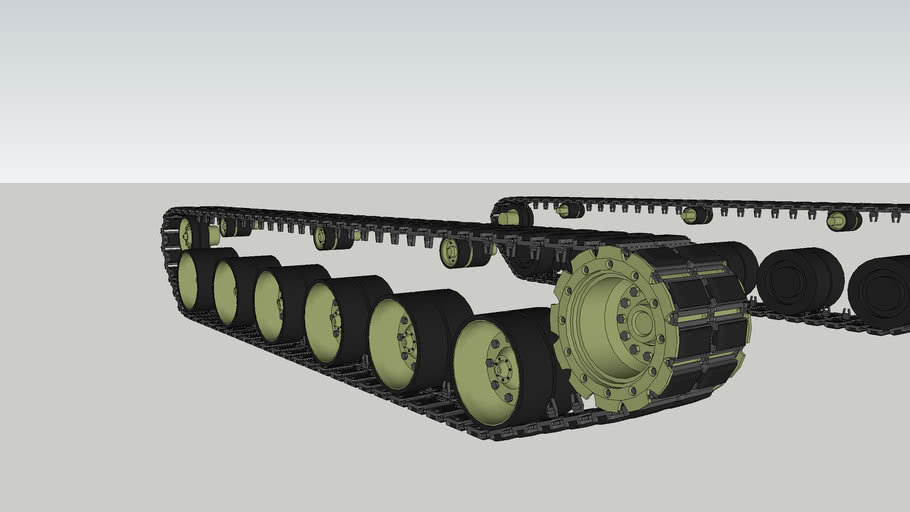 Tank Tracks with rubber inserts