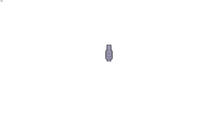 7984 - NON-RETURN VALVE SUPPLY FLOW PARALLEL & METRIC DIAM D 6 MM C G1/8