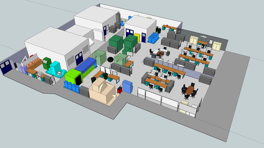 Factory Layout 3d Warehouse