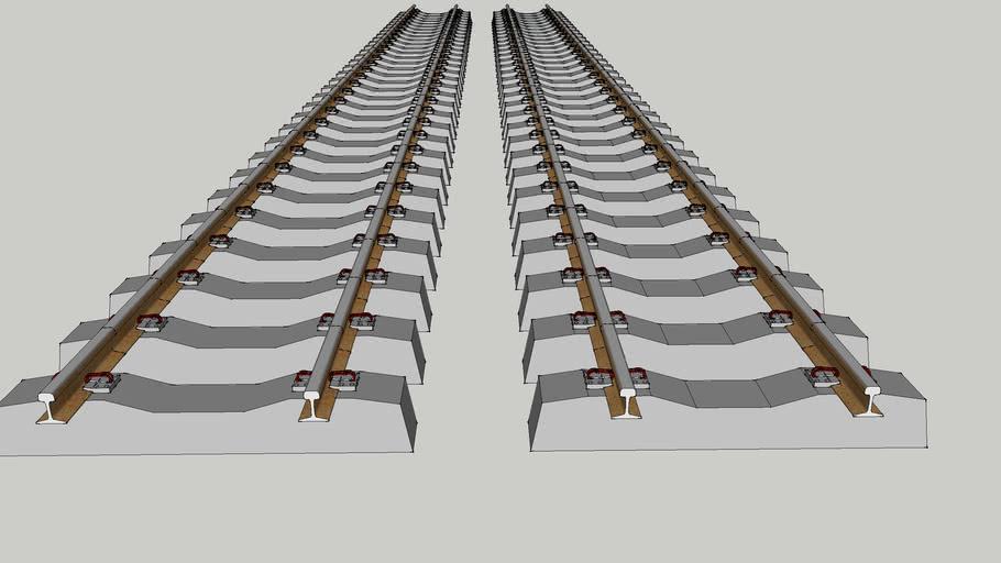 Rail gauge with DE Clip