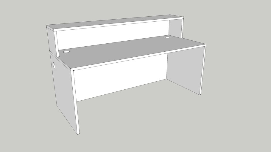 custom 2 person work station by Candex custom Corp .