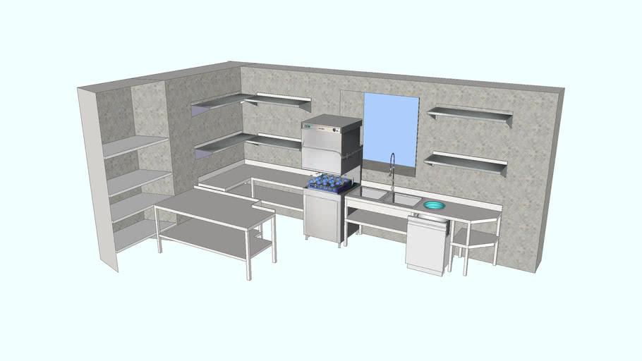 Cocina industrial Zona de lavado