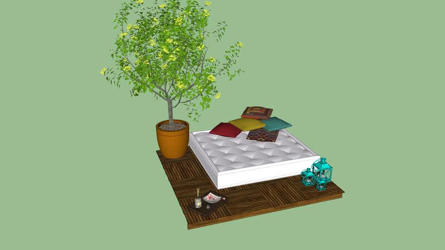 Deck com futon