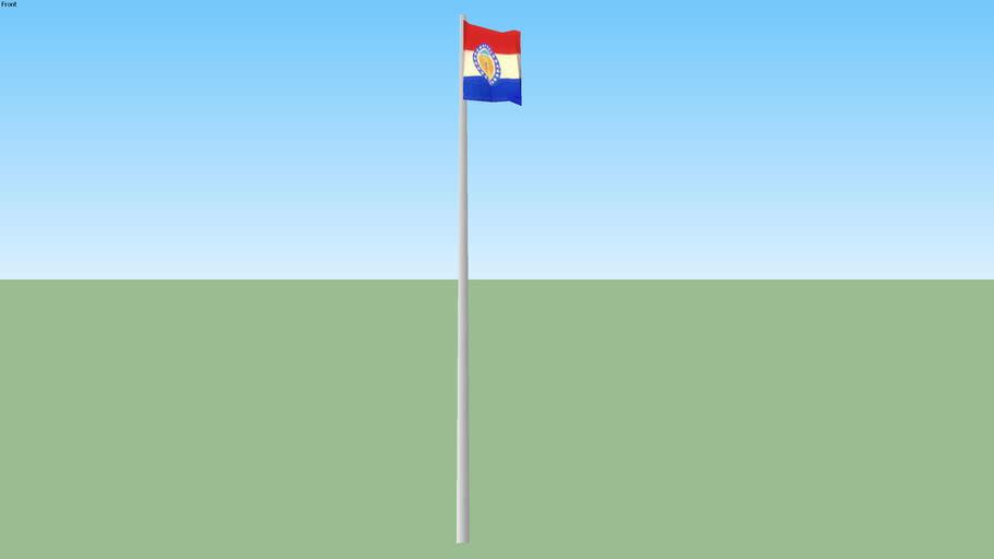 Missouri flag on pole