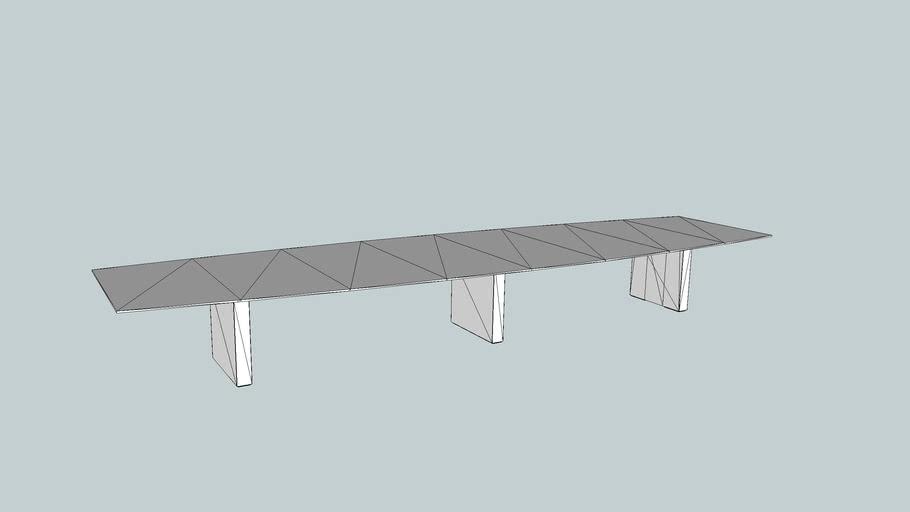 SLAB MEETING TABLE- 6000 x 1600 BOAT SHAPED