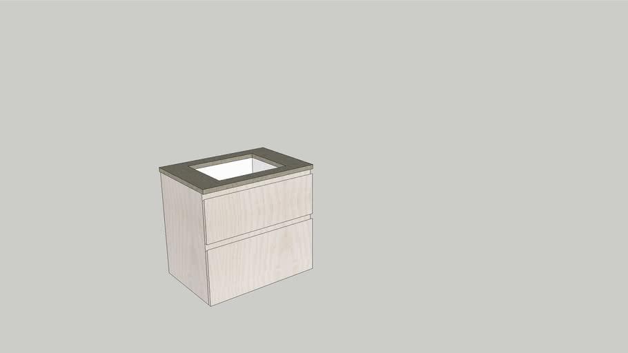 Möbel med stenskiva 70x50 ulimmad ho