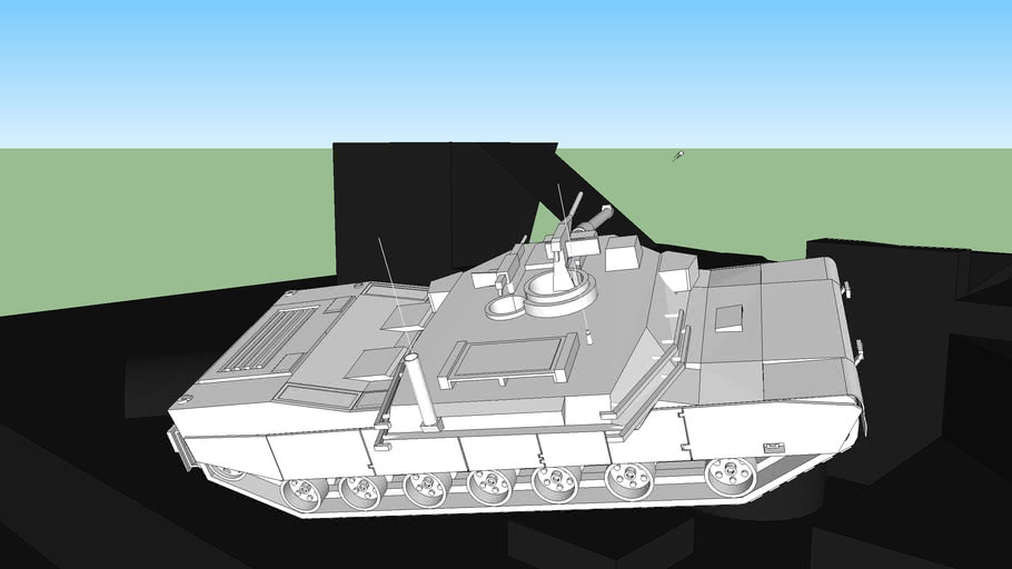 M1 Abrams Tank (not colored)