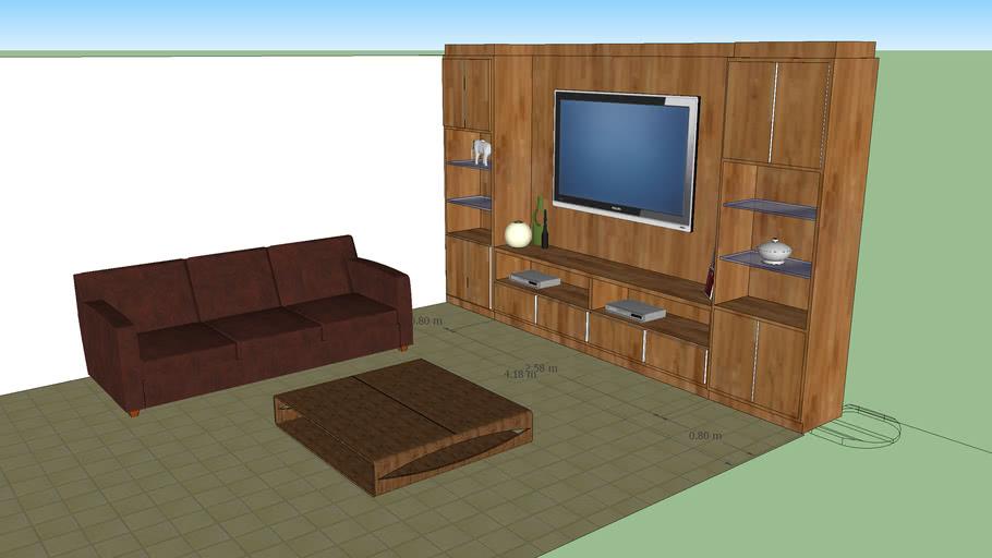 sala para tv