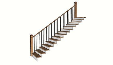 Escalera con baranda 1