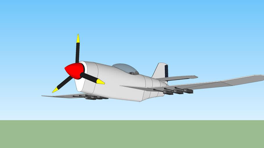 propeller fighter plane