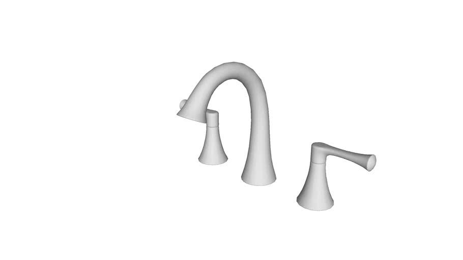 K R78047 4d Widespread Bathroom Sink Faucet 3d Warehouse