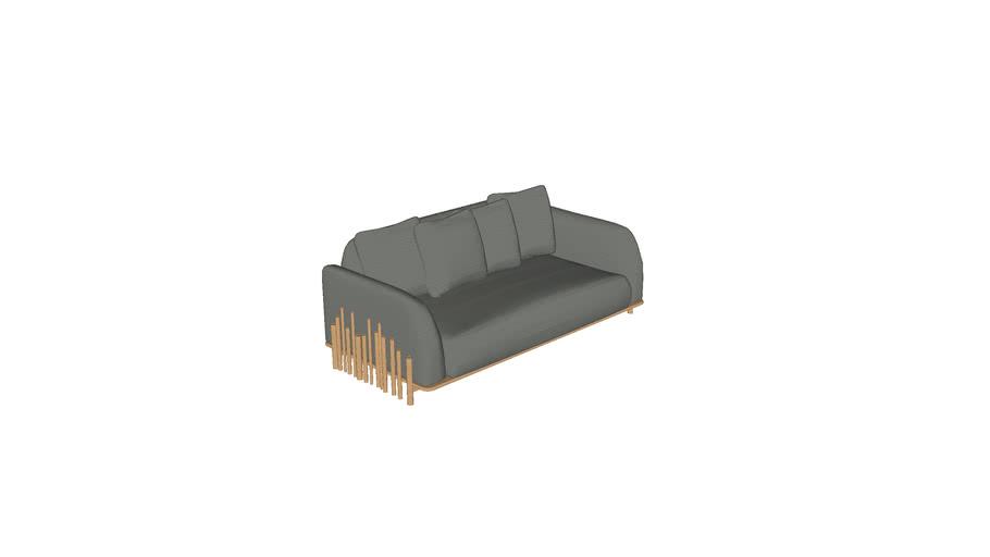 Sofa Bambu 2,00m 2BR CERCA