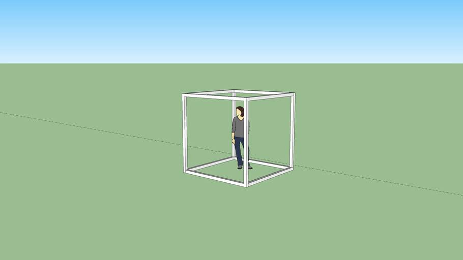 """Cube Box Frame - 6' 9"""""""