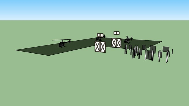 Helicopter airfield