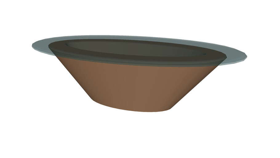 Coffee Table Glass Oval - Detailed