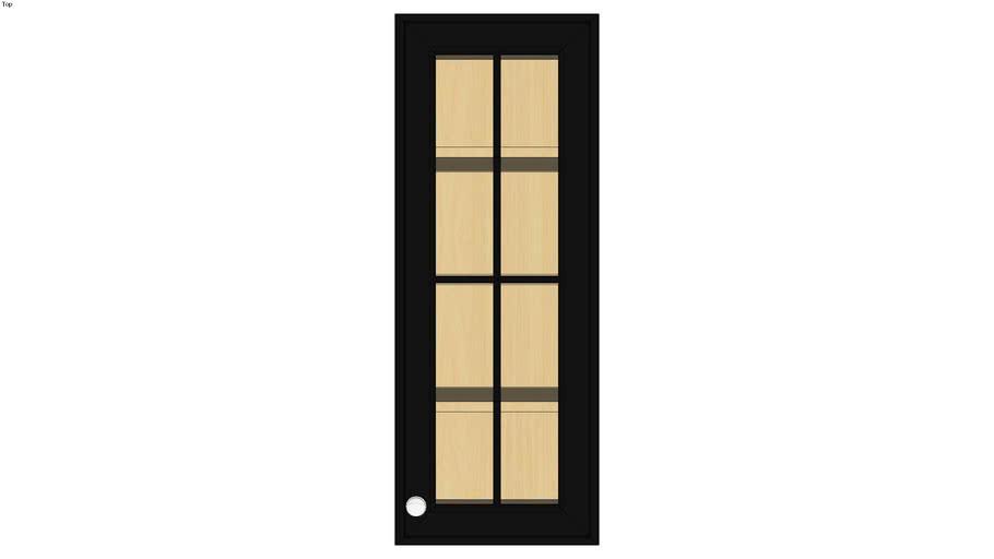 Wall Single Door 39H with Hewitt Bistro Glass Insert