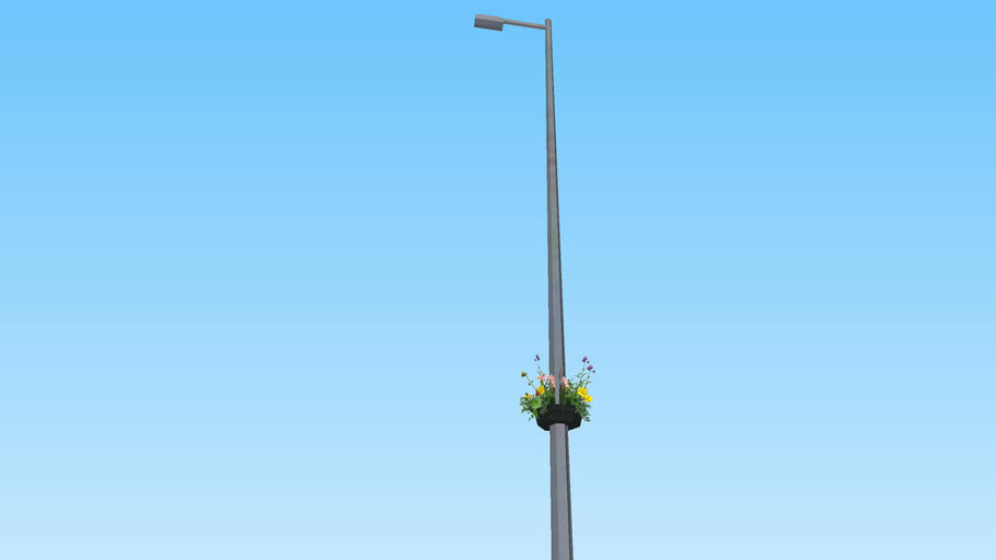 Godmanchester In Bloom, Street Lamp 3