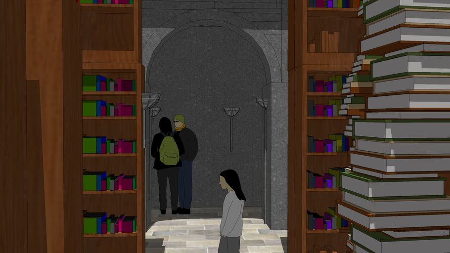The Library in the Goble of Fire