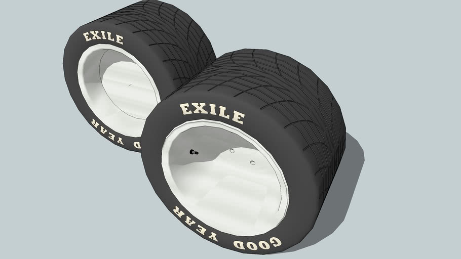 Super wide treaded tire wheels