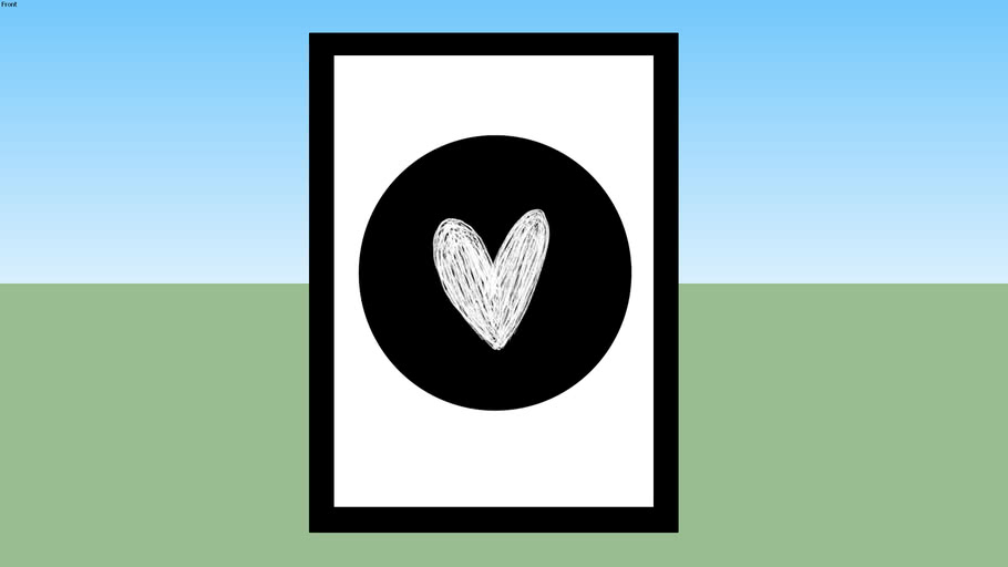 Quadro Heart Sketch