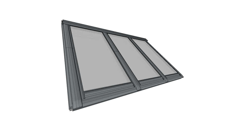 Studio 3 in 1 Top-operated pinewood roof window - Centre-pivot - GGLS