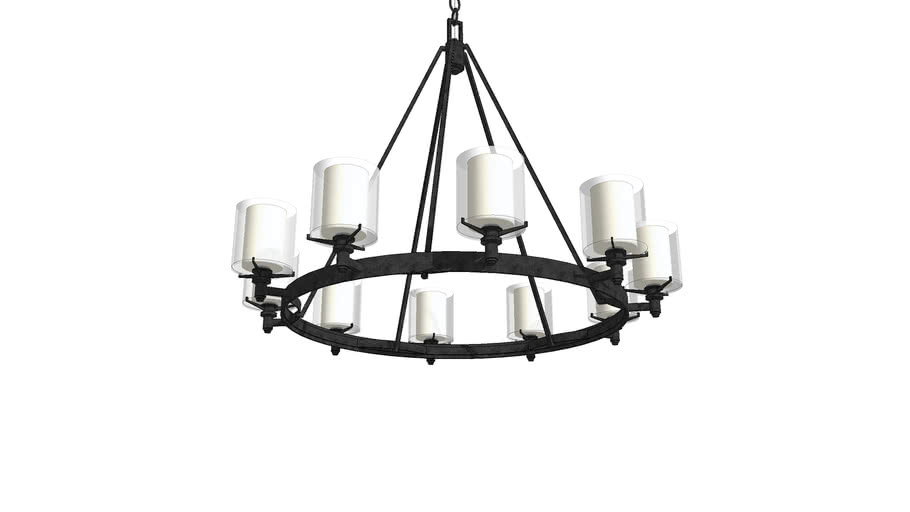 Arcadia 10 Light Chandelier By Troy