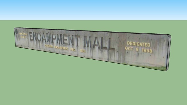 The DIXIE STATE COLLEGE ENCAMPMENT MALL MONUMENT SIGN