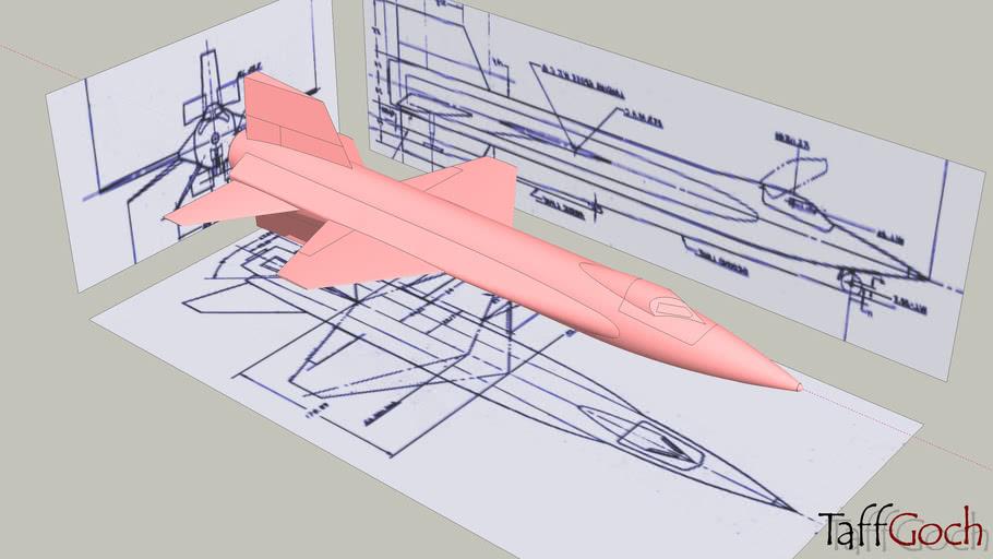 X-15 • Construction • 3-View