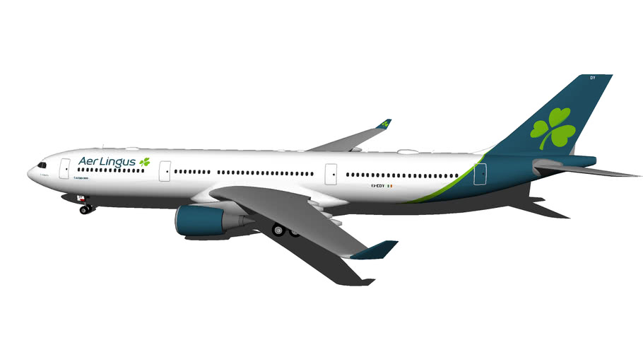 "Aer Lingus Airbus A330-302 EI-EDY ""St Munchin (Maincín)"" (New Livery 2019) (Wi-Fi Dome)"