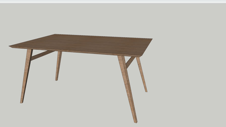 Mid Century Dining Table 3d Warehouse