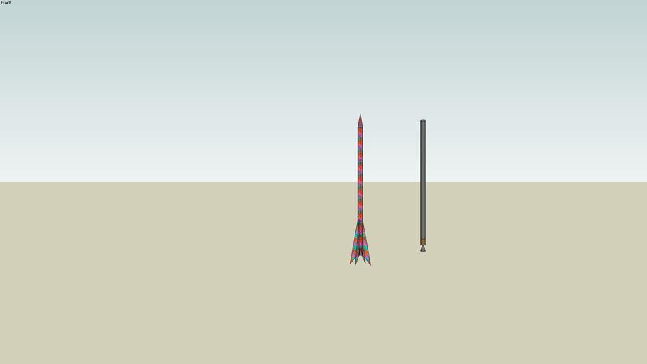 fusée thomas 1 avec son moteur
