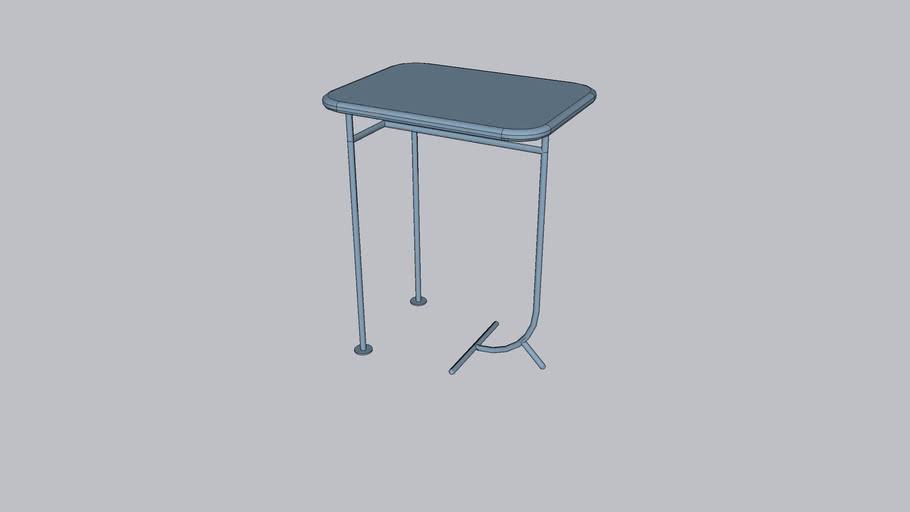 Lean L_Coffee table_Serenity Blue