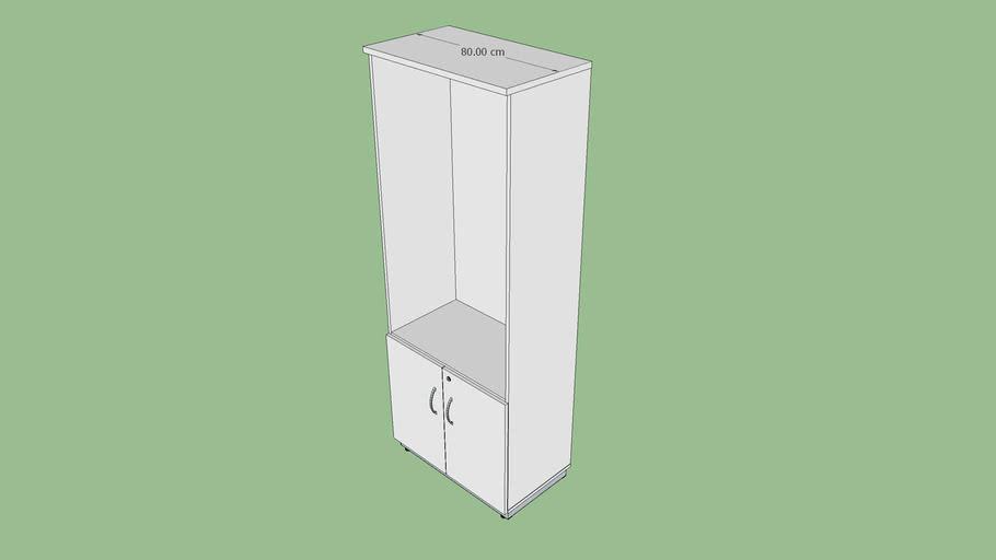 Armário extra alto 80 cm porta baixa de giro