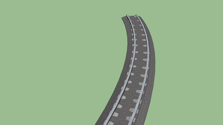 curve track with cement ties