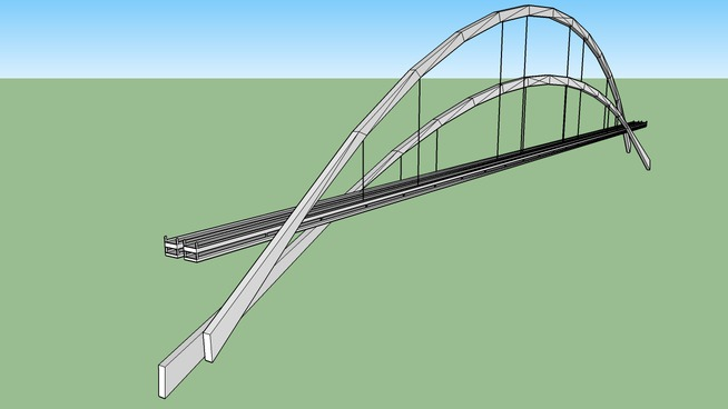 Arch Crossover Suspension Bridge