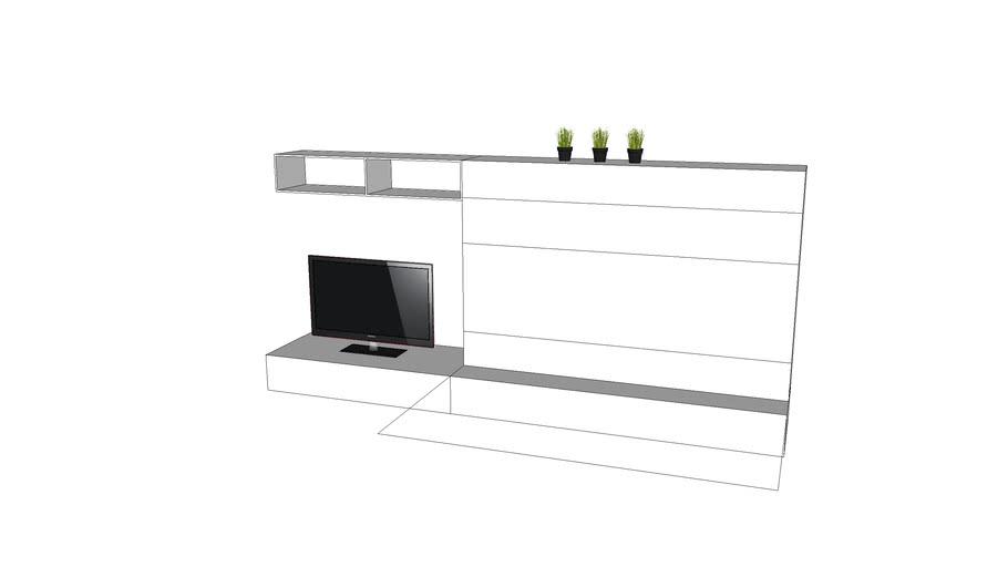 ERB,IQ 128 opklapbed met tv meubel