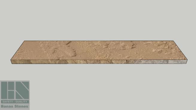"Banas® Stones Premium Natural Wall Coping - 16"" x 72"" - Banas® Modak RF1"