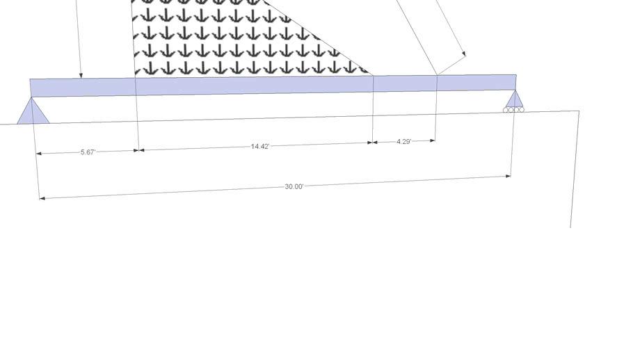 A 2d simple beam problem