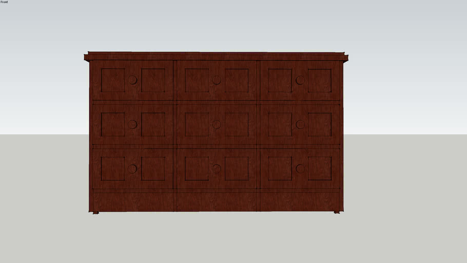 9-drawer dresser, black-brown, 125w47.5d77h
