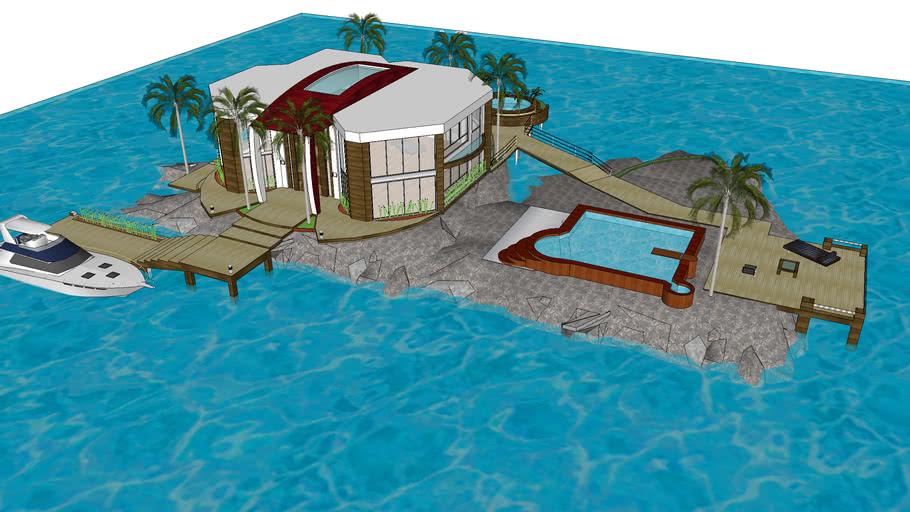 eiland villa